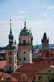 Steeples of Prague Stock Images