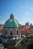 The steeples of Prague Royalty Free Stock Photo
