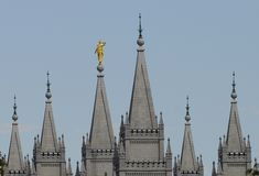 Steeples of salt lake temple stock images