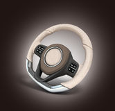 Steering automobile wheel 3d render   on the gradient ba. Steering automobile wheel 3d render   on the gradient Royalty Free Stock Photo