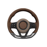 Steering automobile wheel 3d render   on the white. Background Royalty Free Stock Photography