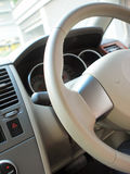Steering in car. Steering in right-hand traffic car Royalty Free Stock Photo
