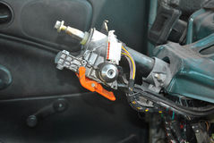 Steering column with ignition lock Stock Photo