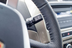 Steering column switch wipers Royalty Free Stock Photography