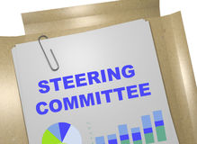 Steering Committee concept. 3D illustration of STEERING COMMITTEE title on business document Royalty Free Stock Images