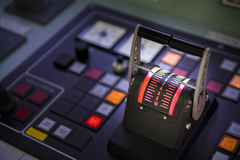 Steering control  in tanker ship.  Stock Photography