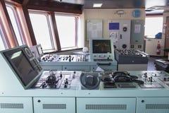 Steering control  in tanker ship. Steering control  in tanker ship Royalty Free Stock Image