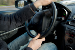 Car steering  Royalty Free Stock Photography