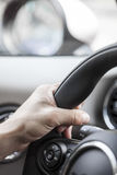 Steering hand Royalty Free Stock Photo