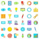 Steering icons set, cartoon style. Steering icons set. Cartoon set of 36 steering vector icons for web isolated on white background Royalty Free Stock Photos