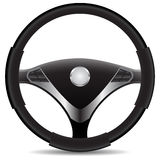 Steering wheel. Isolated on a white background Stock Photo