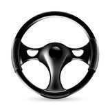 Steering wheel. On the white Royalty Free Stock Photo