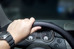 Steering wheel. The photo of steering wheel Royalty Free Stock Photos
