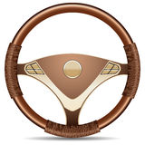 Steering wheel. On a white background Stock Photography