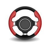 Steering wheel. On a white background Stock Images