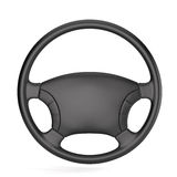 Steering wheel. 3d render of steering wheel isolated Stock Image