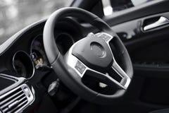 Steering wheel. Luxury steering wheel with Airbag Stock Photos