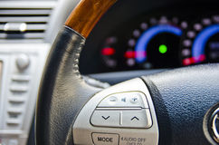 Steering wheel. Audio control integerated to the steering wheel Royalty Free Stock Photos