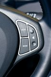 Steering wheel. With control buttons Stock Photo
