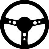 Steering Wheel. Illustration of a black steering wheel Stock Images