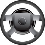 Steering wheel. Close up picture of a steering wheel for a car Royalty Free Stock Photo