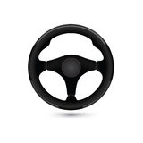 Steering wheel. Auto detail design element. Car mechanic icon Royalty Free Stock Photography