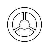 Steering wheel black color icon . Royalty Free Stock Image