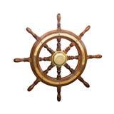 Steering wheel of  boat Stock Image
