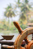 Steering wheel of a boat. A steering wheel of a boat in Kerala Royalty Free Stock Image