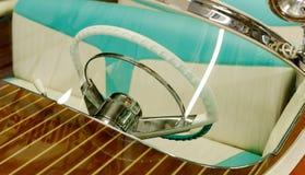 Steering wheel boat motor, retro style Stock Images