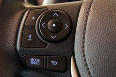 Steering wheel button Royalty Free Stock Image