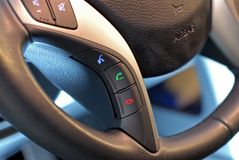 Steering Wheel Button, Voice Control Royalty Free Stock Photo