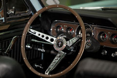Steering wheel of a car.  Royalty Free Stock Photography