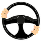 Steering wheel of the car Stock Images