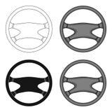 Steering wheel.Car single icon in cartoon style vector symbol stock illustration web. Royalty Free Stock Image