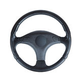 Steering wheel of the car on a white background. Steering wheel of a car isolated on white background Royalty Free Stock Photos