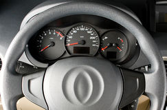 Steering wheel close up Stock Photography