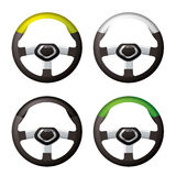 Steering wheel collection Stock Photography