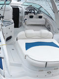Steering wheel command pilot place on a luxury yacht Royalty Free Stock Photography