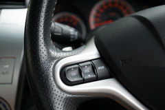 Steering wheel commands. And control of a modern car Royalty Free Stock Images