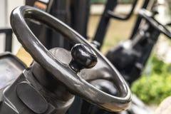 Steering wheel control Stock Photo