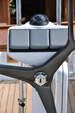Steering wheel and control of yacht Royalty Free Stock Image