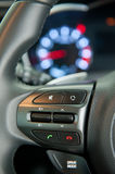 Steering wheel controls Royalty Free Stock Photography