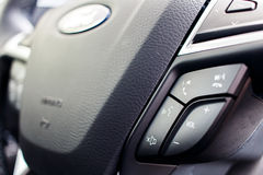 Steering Wheel Controls Close up Royalty Free Stock Photography