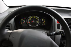Steering wheel and dashboard Royalty Free Stock Photos