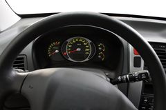 Steering wheel and dashboard Royalty Free Stock Image