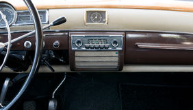 Steering wheel and dashboard Stock Photography