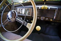 Steering Wheel and Dashboard, Classic Buick Royalty Free Stock Image