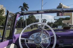 Wheel of convertible classic car, Cuba Royalty Free Stock Photos