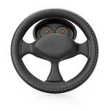 Steering wheel with dashboard Royalty Free Stock Image